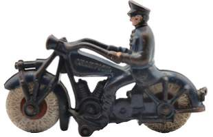 Hubley Cast Iron Harley Police Motorcycle