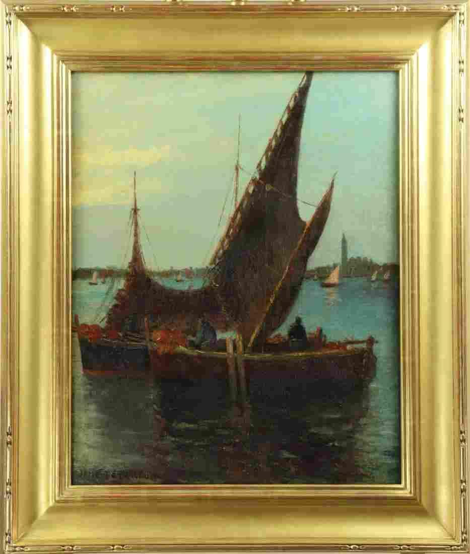 Jane Peterson (1876-1965) American, Oil on Board