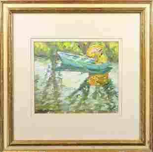 Impressionist Scene, Oil on Canvas, Signed