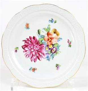 Herend Hungary Hand Painted Scallop Dish