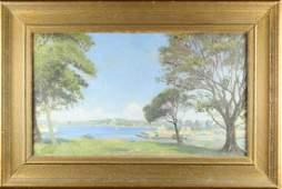 Australian, Sydney Harbor Scene Oil on Canvas