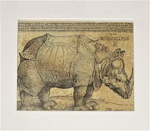 Albrecht Durer (1471-1528) German, Rhino Woodcut