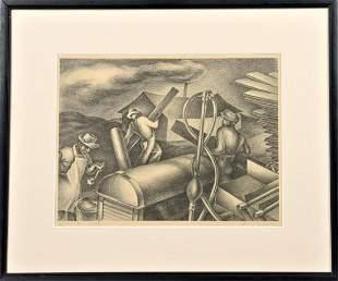 Philip Andrews, C. 1930's Lithograph