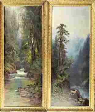 Dominic Needham (American, 1854-1911) Pair O/C