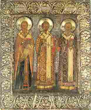 Impressive19th C. Russian Icon, Moscow Tradition