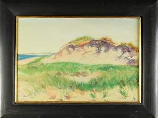 Signed Sand Dune Painting, Oil/Board