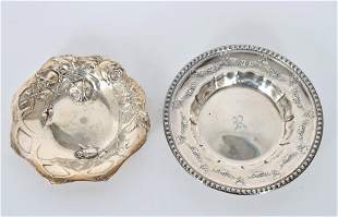 Pair of Sterling Silver Dishes, 5.38 OZT