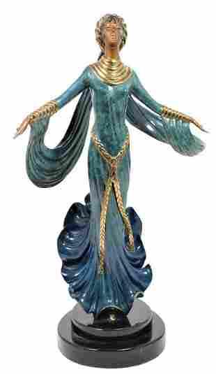 Erte (1892-1990) Bronze,  Ecstasy