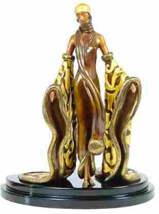 "Erte Bronze Sculpture ""The Mystic"""