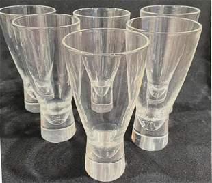 (6) Steuben Modernist Water Glasses, 1950