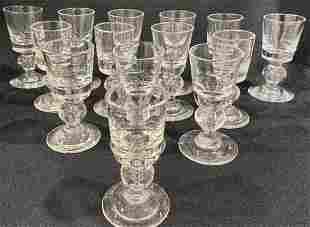 (14) Steuben Crystal Aperitif Glasses