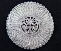 Large Sterling & Marcasite Brooch