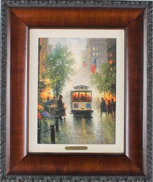 G. Harvey 'California Cable Cars' Lithograph