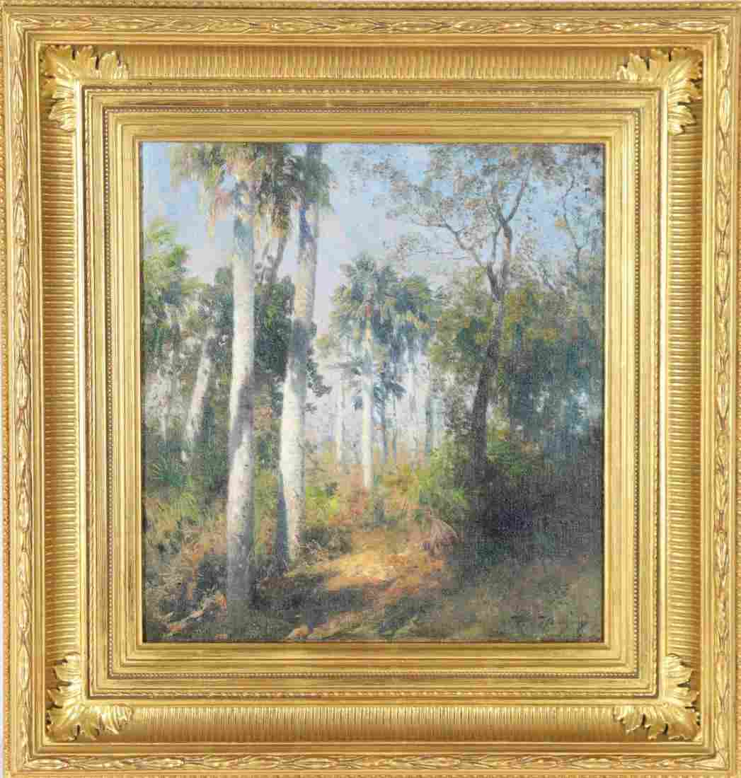 Hermann Herzog (1832-1932), O/C, Florida Palms