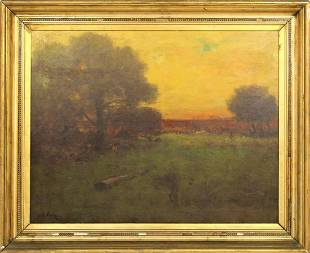 George Inness (1825-1894) American, Oil on Canvas