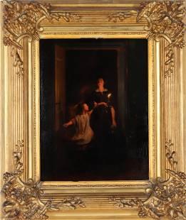 Johannes Rosierse (1818-1901) Dutch Oil on Panel