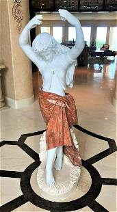 Large Stone Sculpture of Dancing Woman