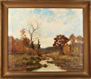 William Merritt Post(1856-1935) American, O/C