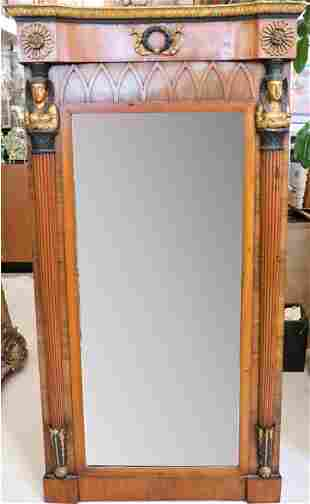 19th C Egyptian Revival Empire Mirror