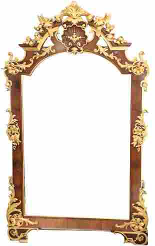 Monumental Carved Gilt Mirror