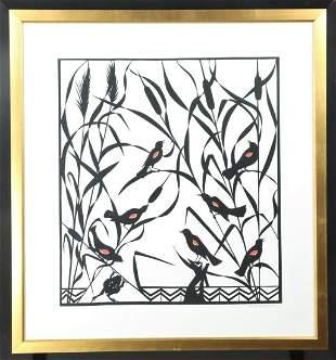 Peter Michael Martin (20th c) Amer, Paper Cutting