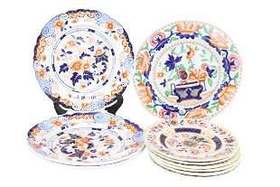 (10) Collection of English Ironstone Imari Plates