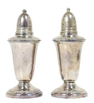 Set of Sterling Weighted Salt & Pepper Shakers