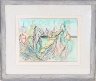 Wesley Lea (1914-1981) American, Watercolor