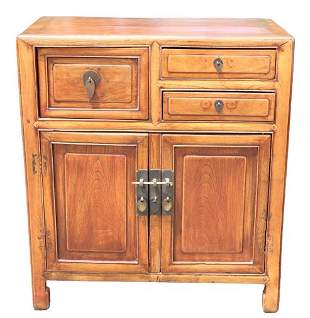 Antique Chinese Wood Cabinet w Seal