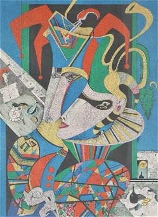 Mihail Chemiakin (b 1943) Russian, Lithograph