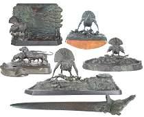 (6) Piece Bronze Desk Set