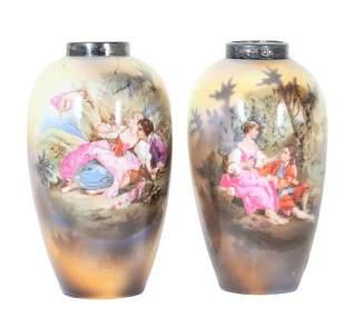 Pair of Diminutive Porcelain Vases
