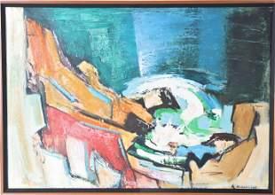 Al Melenbacker (1921-2014) American, Oil on Canvas