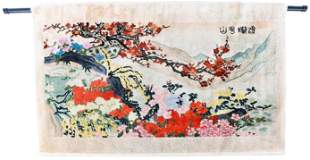 Chinese Decorative Wall Rug, Landscape