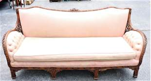 Vintage Chinese Chippendale Style Sofa