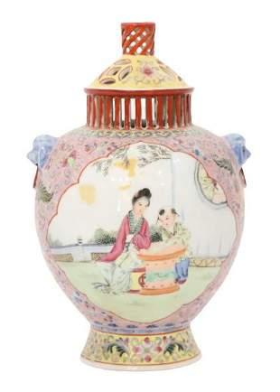 Antique Asian Ceramic Incense Burner/Censor