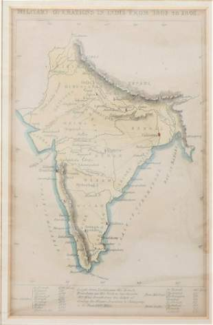 Map of Military Operations in India from 1802-1806