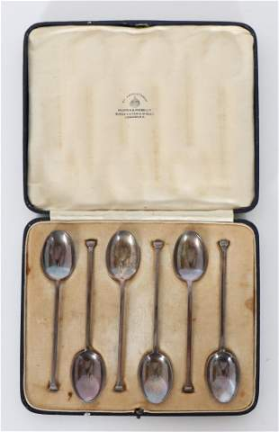 (6) English Sterling Spoons 2 OZT