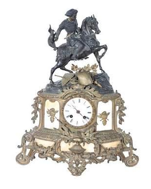 Antique French Bronze Mantel Clock