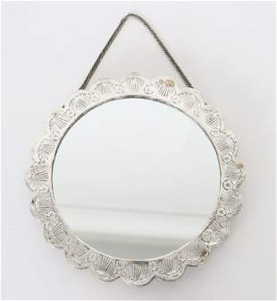 Repousse Silver Plated framed Mirror