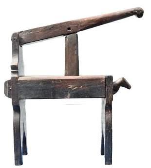 Antique Indian Wooden Juicer