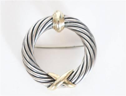 David Yurmam Gold & Sterling Broach / Pin