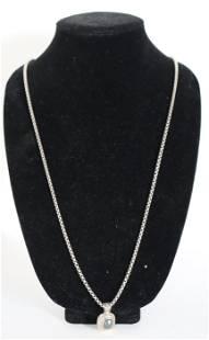 David Yurman Gold & Sterling Pendant Necklace