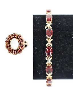 Ladies 14k Bracelet & Opal Ring