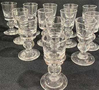 (13) Steuben Crystal Aperitif Glasses