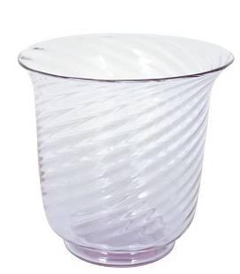Steuben Swirl Art Glass Vase, Signed