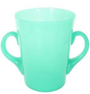 Steuben Green Jade / Alabaster Champagne Bucket