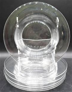 (6) Set of Steuben Clear Glass Soup Bowls