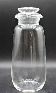 Signed Steuben Crystal Cocktail Shaker