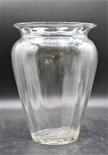 Steuben Wisteria Ribbed Vase